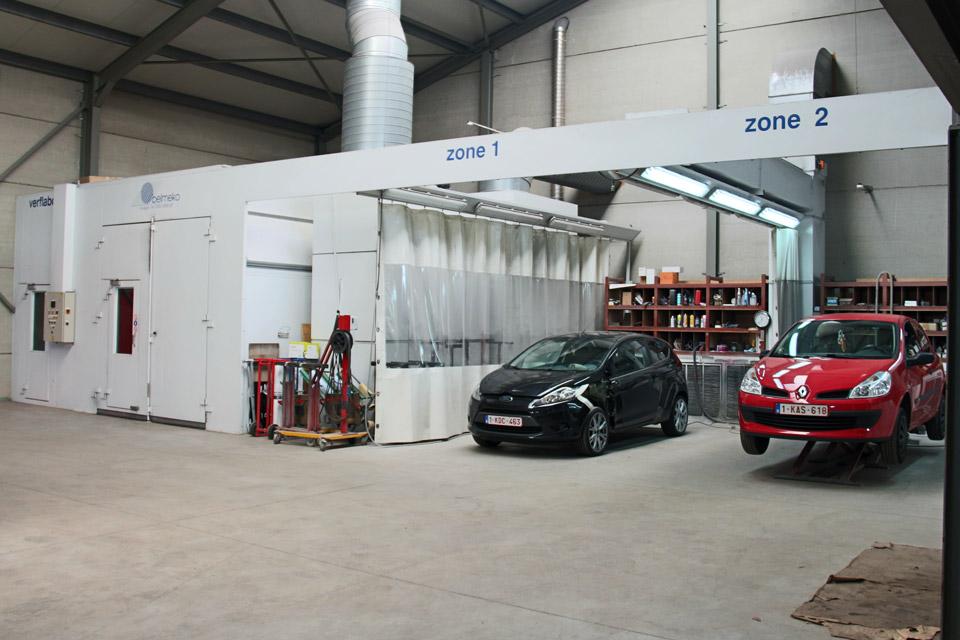 Binnenin de garage